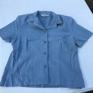 Minimal Vintage 1960's light blue top